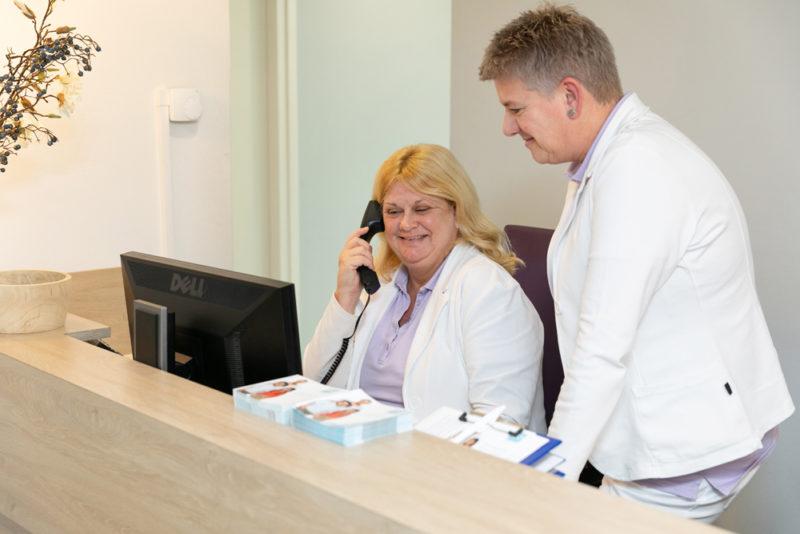 tandartspraktijk Veenendaal centrum - receptie Dental Clinics Veenendaal Scheepjeshof