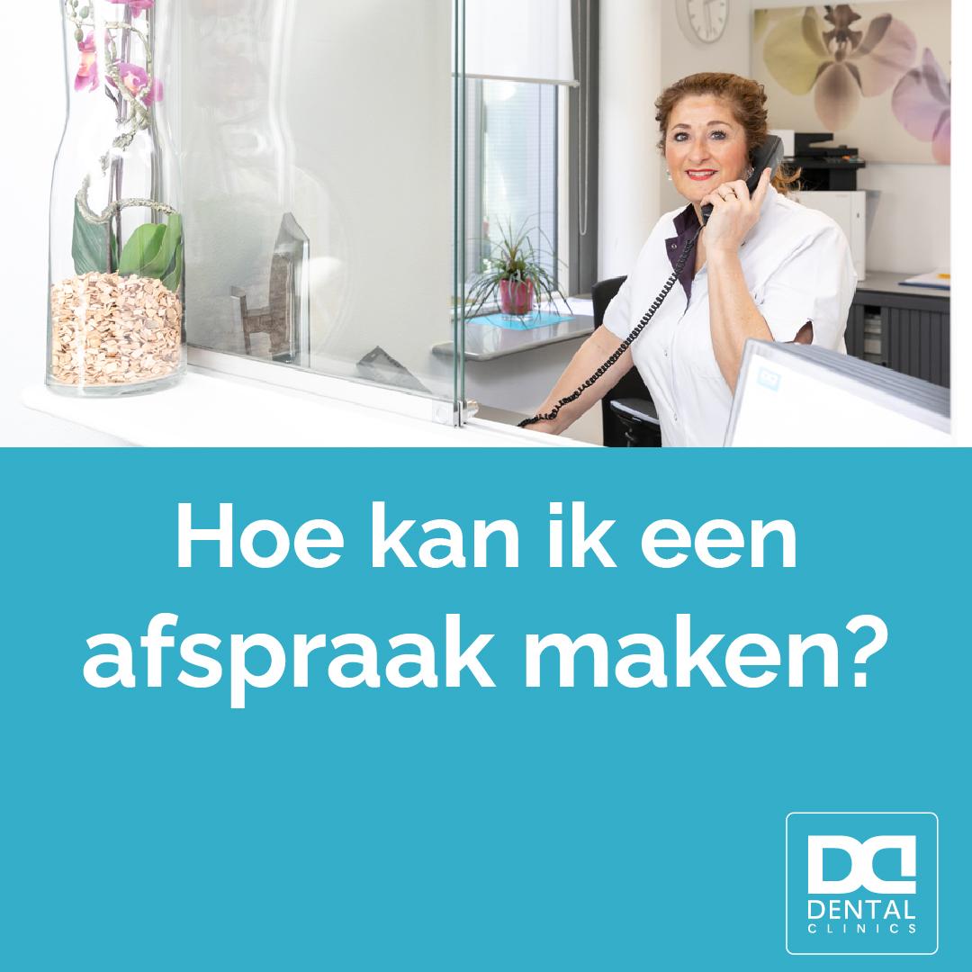 Afspraak maken Dental Clinics - telefonisch contact