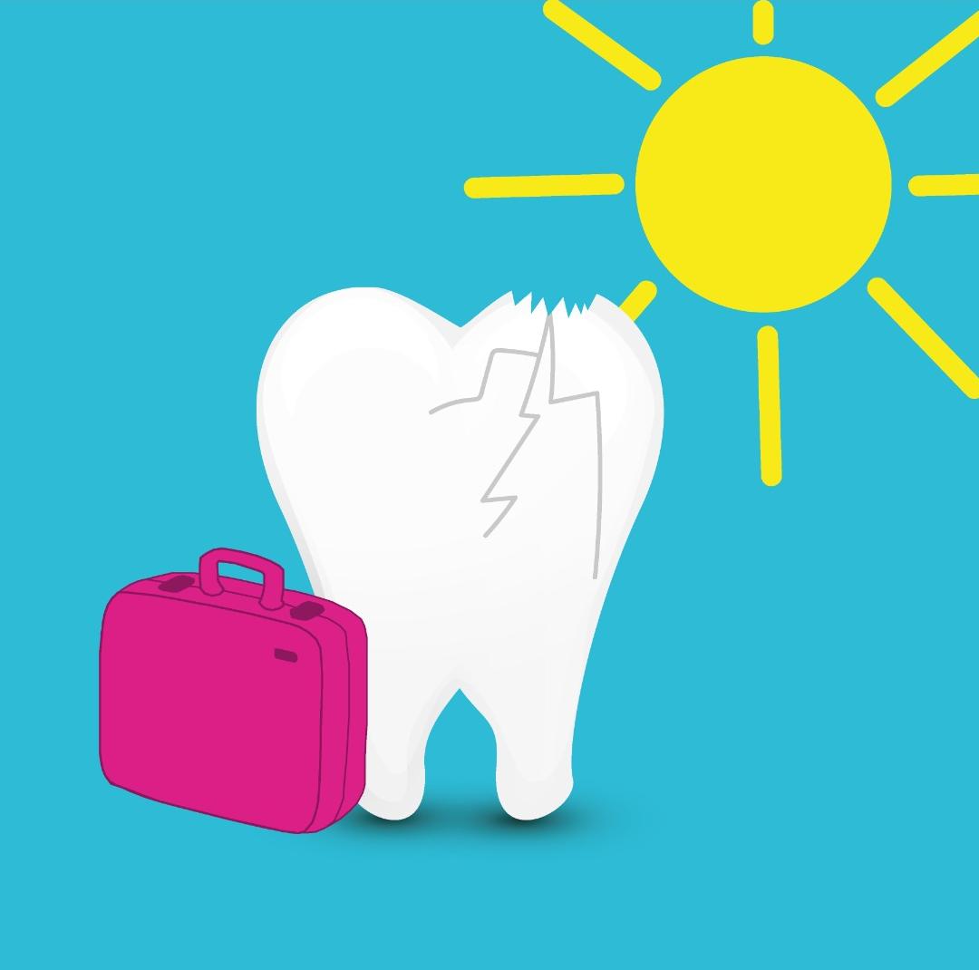 tandarts tijdens vakantie - vakantietips tandletsel tandarts Dental Clinics