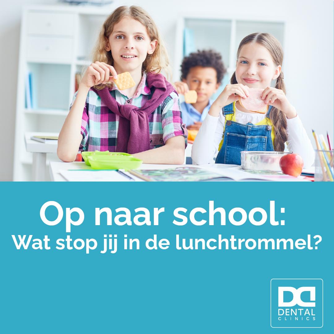 Tandartstip Dental Clinics - voedingstip kinderen - gezonde voeding lunchtrommel